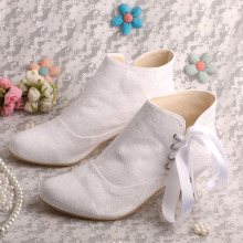 Wedopus White Wedding Boots per la sposa