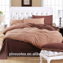 Venta al por mayor algodón de calidad superior / 100% poliéster cepillado juego de cama de cubierta de edredón