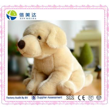 Requintado bonito Suffed Lifelike Labrador Dog brinquedo de pelúcia Boneca
