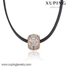 Толстые 43812 кольцо вымощает красочные циркон кулон кожа ожерелье женщины кожа колье