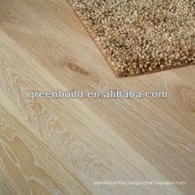 Brush different thickness White Wash Oak Wood Flooring
