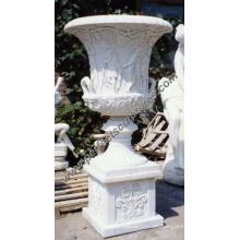 Maceta de mármol de piedra para la decoración del jardín (QFP030B)