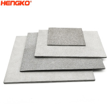 HENGKO Micron porous metal sintered stainless steel ss316 316L filrer plate for Industries filtration