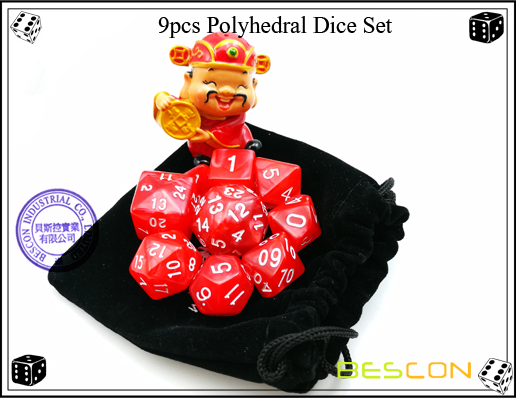 9pcs Polyhedral Dice Set-10