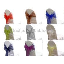 Свадебные кресло спиной галстук, мода кристалл органзы стул створки галстук обратно, галстук, узел, свадьба стул крышку и таблицы ткань