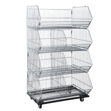 Supermarket Multiple Layers Wire Display Basket Cage