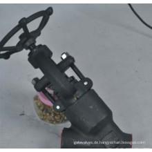 Geschmiedeter Stahl-Schneckengetriebe-Hebel-Balgen-Kugelventil