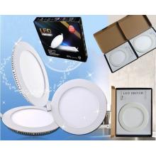 3W / 6W / 9W / 12W / 15W / 18W Дешевые круглые ультра-тонкие светодиодные панели