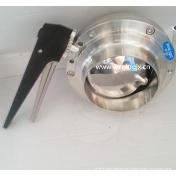 Válvula de mariposa de soldadura de acero inoxidable de grado alimentario