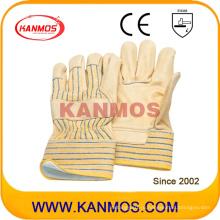 Кожаная кожаная кожа Джерси Подкладка Промышленная безопасность Теплые зимние рабочие перчатки (12302)