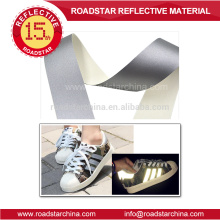 Cheap price silver reflective leather for shoes
