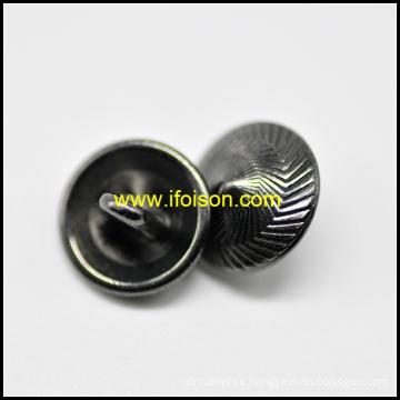 Fashion Shank Button in Shiny Gun Metal color