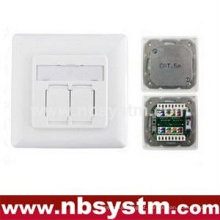 FTP Cat.5e Outlet 2 Port (placa tipo 80 tipo)