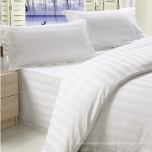 King Size Stripe Design Cotton Fabric Bed Sheet