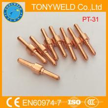 Antorcha de corte de plasma de piezas de corte PT31 electrodo