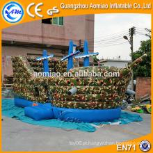 2016 Outdoor pirata navio inflável playground aluguel