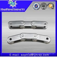 Cadeia de transportador de aço inoxidável de passo duplo