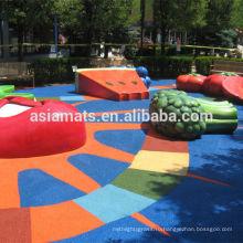Декоративный резиновый настил, настил безопасности для детского сада