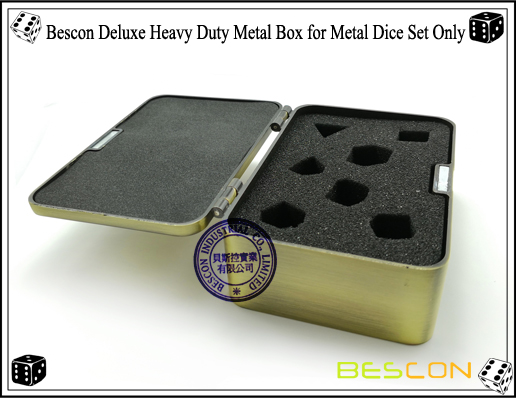 Bescon Deluxe Heavy Duty Metal Box for Metal Dice Set Only-3