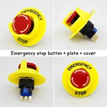 16mm petits commutateurs de bouton d'arrêt d'urgence (bouton + plaque + couvercle)