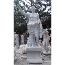 Escultura de pedra esculpida escultura de mármore da estátua de Caesar para o jardim (SY-X1181)