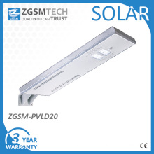 Windproof Integrated Solar Street Lamps with Vertical/ Horizontal Installation