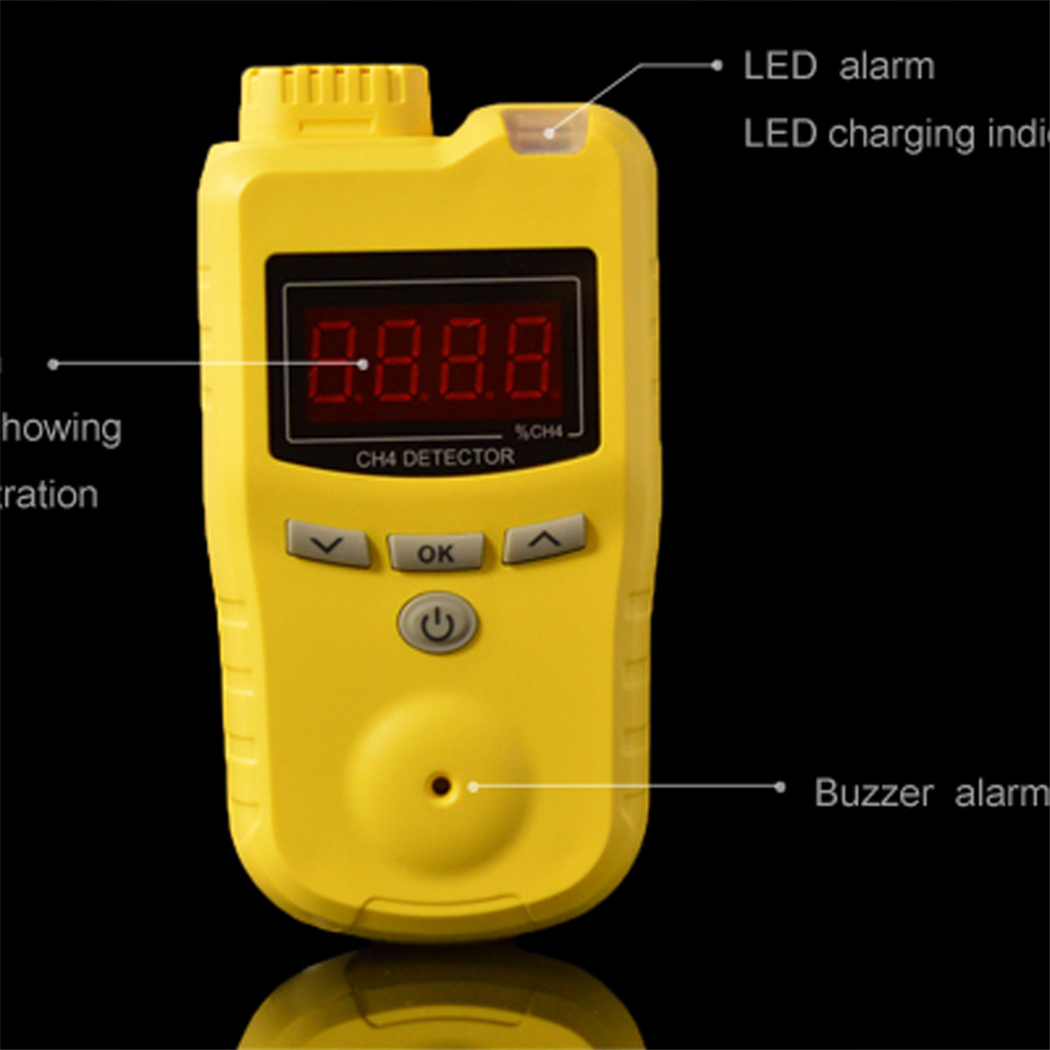 Gas detector ABS+PC case durable buttons in stock