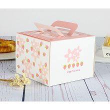 Günstige Brown Kraft Papier Kuchen Box mit Griff