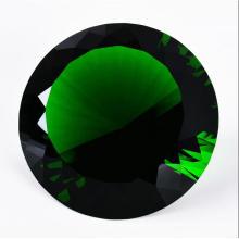 Regalo de decoración de boda 100mm Diamante de cristal verde
