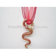 Счастливый подарок Lampwork Стеклянный кулон ожерелье Lampwork стекло Ожерелье murano стеклянный кулон звезды с восковым шнуром