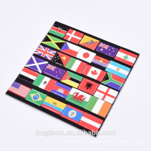 cheap wholesale national flag EVA fridge magnet for different countries