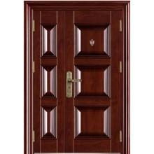 casa de diseño de puertas de acero de doble hoja