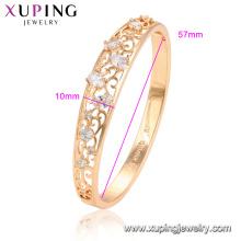 52076 xuping best selling 18 k banhado a ouro moda micro pave configuração moda pulseira