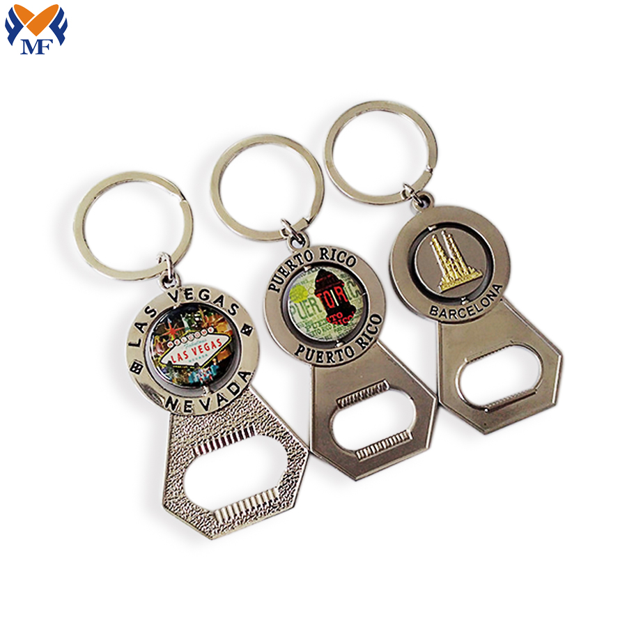 Beer Bottle Opener Souvenir Keychain