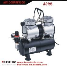 Compressor de ar 1 / 4HP Mini com tanque de 3,5 L