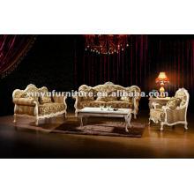 Sofá de madera de salón conjuntos A80860