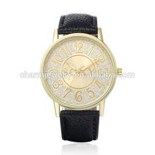 Alta calidad de moda cuarzo cuero promoción reloj SOXY002