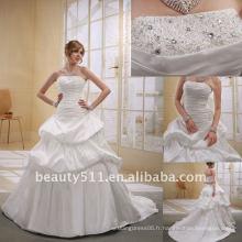 Astergarden à la mode en taffetas à rayures A-ligne perlée Robe de mariée en mariéeAS013