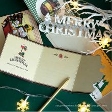 6PCS PVC Box Packing 3D Christmas Wishing Paper Card