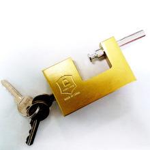 Imitate Brass Rectangular Padlock with Flat Key and Computer Key