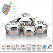 5 Ply Apple Shape Cookware Set