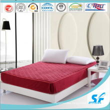 Solid Color Quilted Mattress Pad with Skirt Cotton Mattress Protector