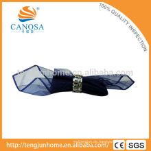 Tischdekoration Schwarz MOP Shell Serviette Ring mit Metall