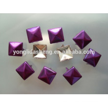 Stamping latest technology purple metal claw beads