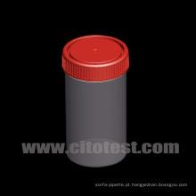 Recipiente de amostras de plástico de 250 ml com graduação