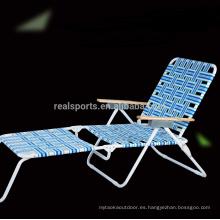 Sillas de camping plegables, silla de playa ajustable, silla plegable de lujo ligero / silla de camping y cama de playa