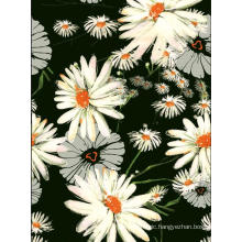 Daisy-Design Polyester Printed Garment Woven Fabric