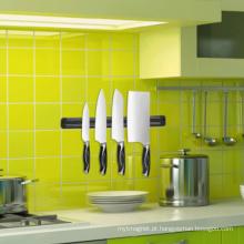 Cremalheira magnética da faca da cozinha plástica colorida dobro da parede