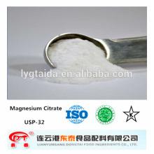 MgCA Food Grade Citrate de Magnésium, agent chélatant, Fortifiant de Calcium, Usine,