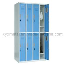 8 portes en acier Structure Knock Dwon Metal Lockers